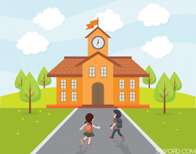 She often goes to school early.