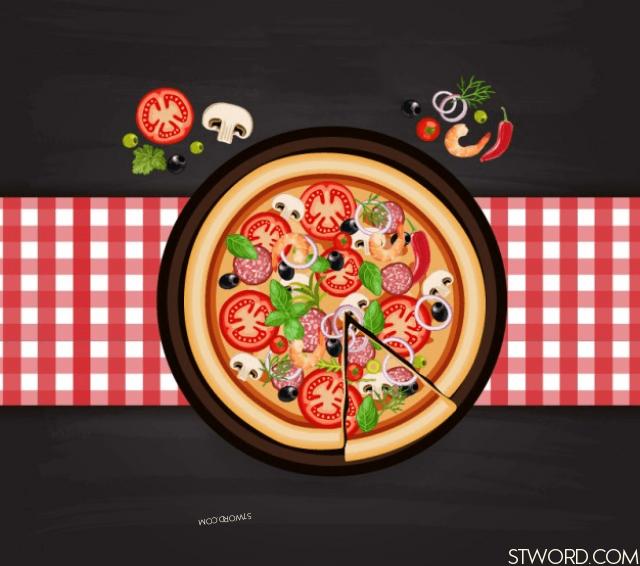 The pizza tastes good.