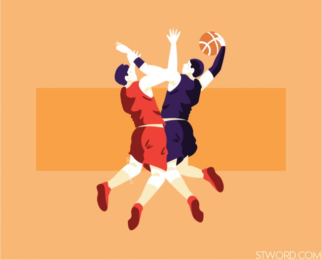 Those two tall high schoolstudents play basketball every day.