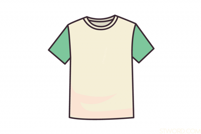an old greenand white T-shirt