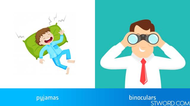 pyjamas, binoculars