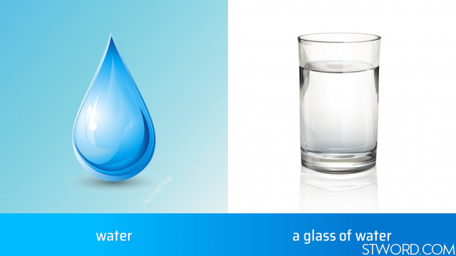 water, a glass of water