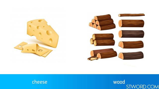 cheese, wood