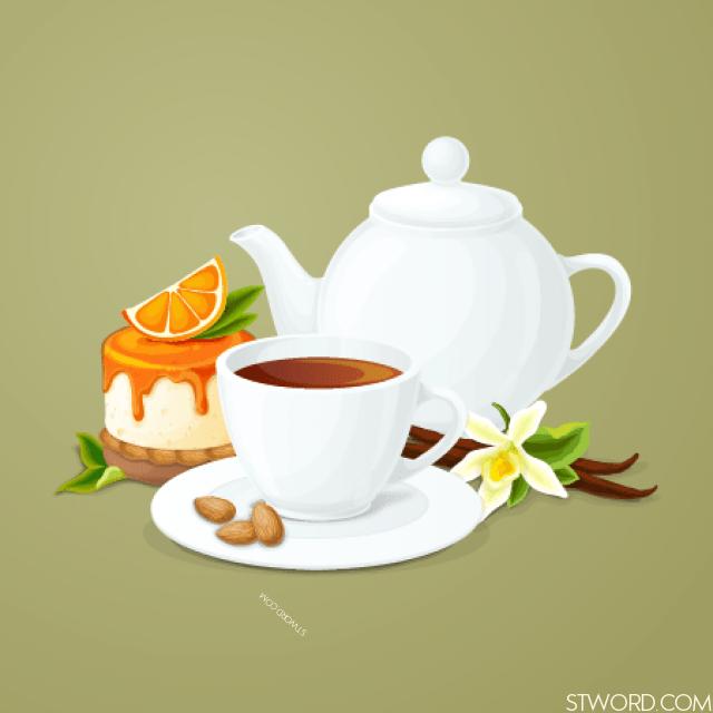 This tea tastes good.
