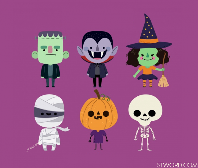 They were dressed as monsters for Halloween.