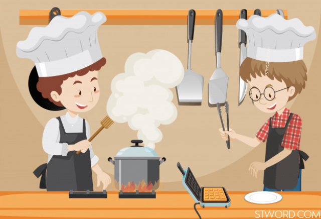 Jack and Roseare taking an cooking class.