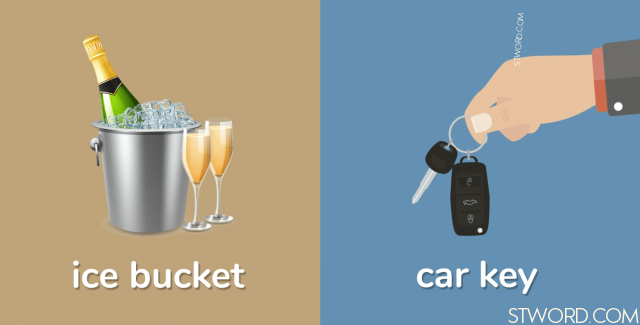 Ice bucket Car key